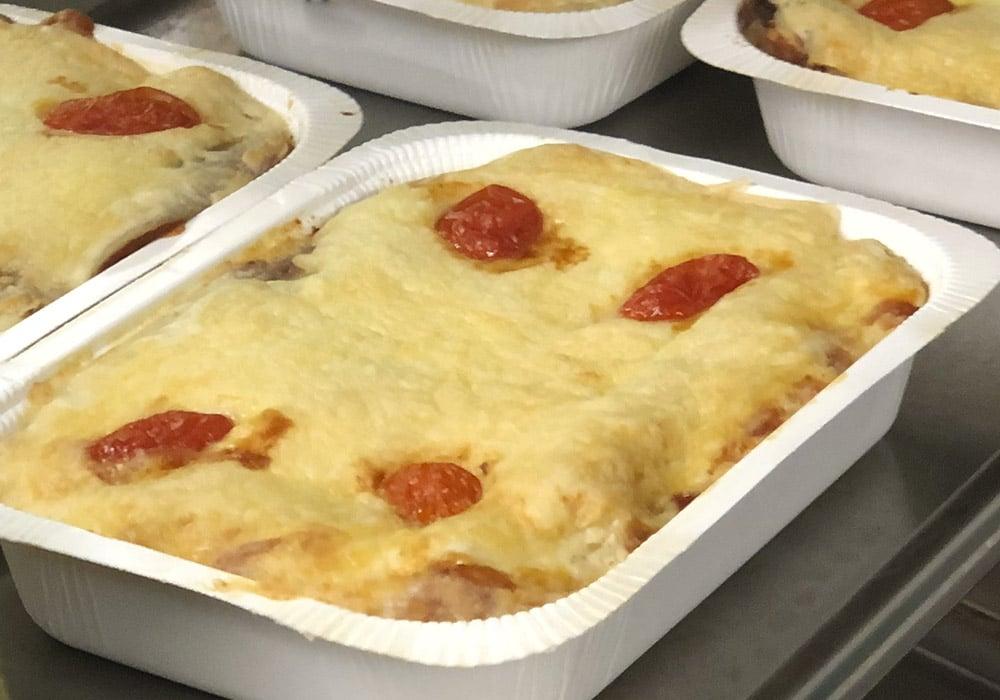 Lasagne med nötfars & grönsaker